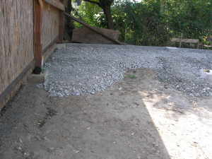 Carport Bauen Unterbau Pflastersteine