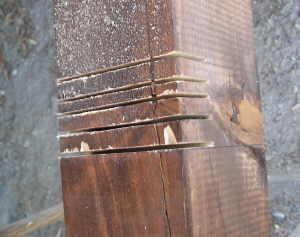 Carportst nder zapfenverbindung herstellen for Holzverbindungen herstellen