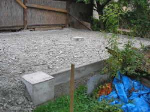 carport bauen unterbau pflastersteine. Black Bedroom Furniture Sets. Home Design Ideas
