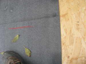 Dachpappe für das carportdach