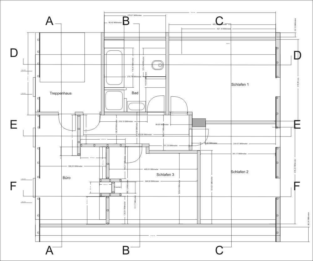 dachgeschoss ausbauen grundriss bauzeichnung schnitt. Black Bedroom Furniture Sets. Home Design Ideas