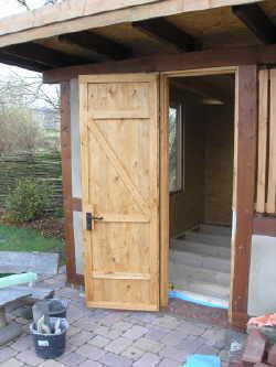 Gut gemocht Gartenhaus tür selber bauen KH79
