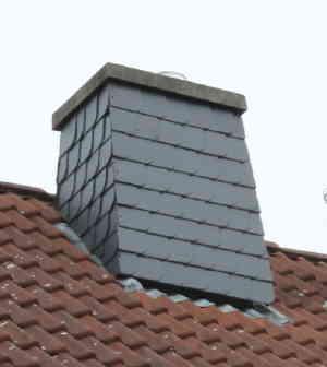 Häufig Schornsteinkopf mit Schieferplatten verkleiden UH11