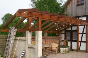 terrassendach selber bauen berdachte terrasse. Black Bedroom Furniture Sets. Home Design Ideas
