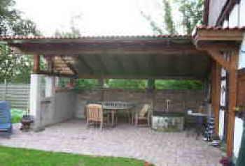 Eine überdachte Terrasse selber bauen