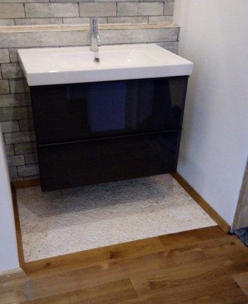 steinmatten kieselmatten verlegen. Black Bedroom Furniture Sets. Home Design Ideas